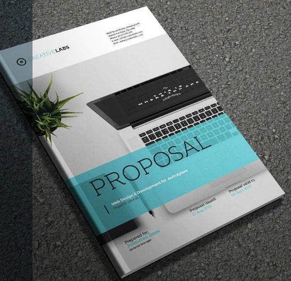 Monochrome Proposal Brochure Template
