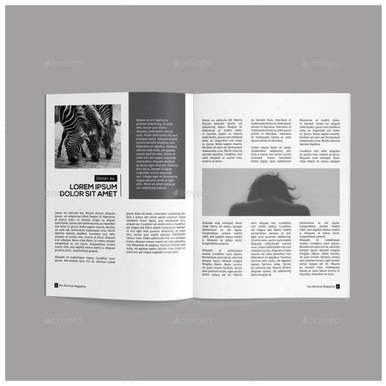 monochrome-simple-magazine-template