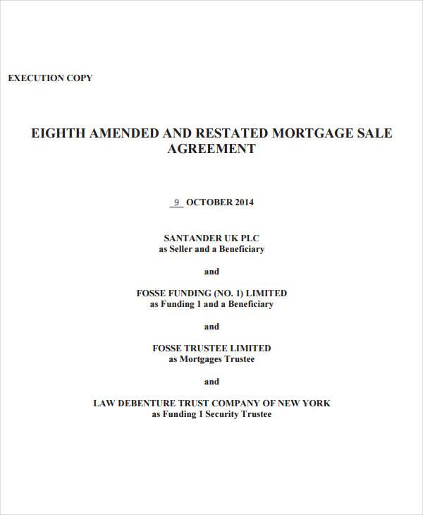 mortgage sale agreement