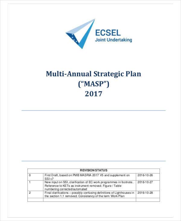multi annual strategic plan
