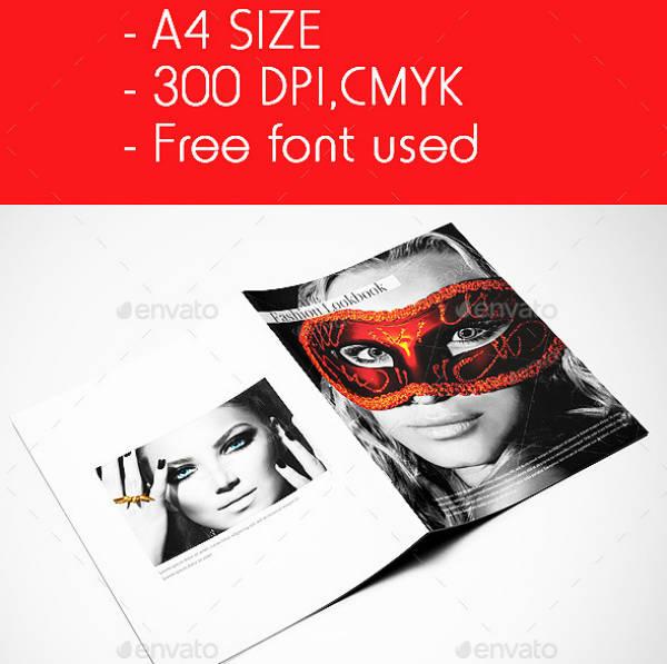 Multipurpose Booklet Fashion Lookbook Example