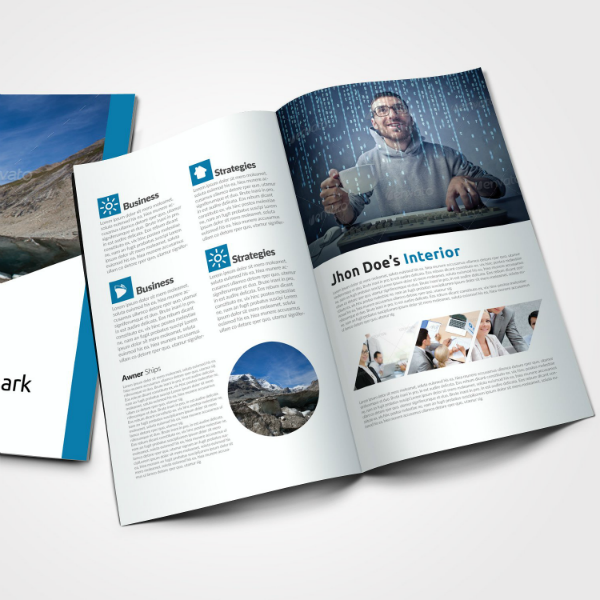 Multipurpose Business Bifold Style Brochure Template