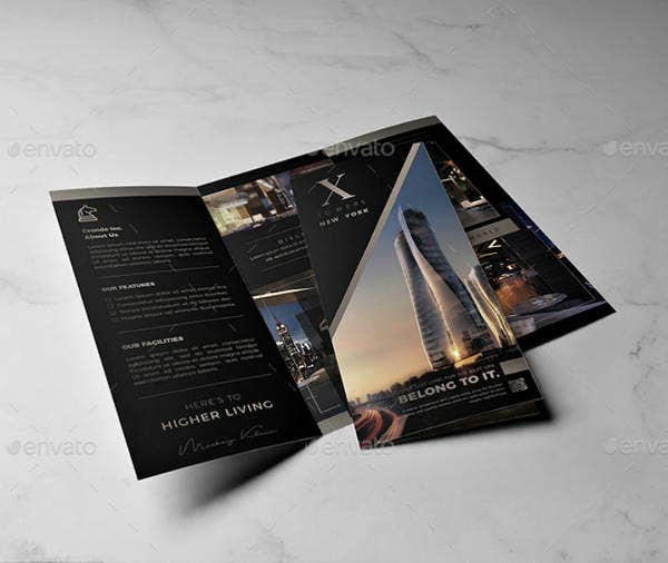 multipurpose real estate trifold brochure