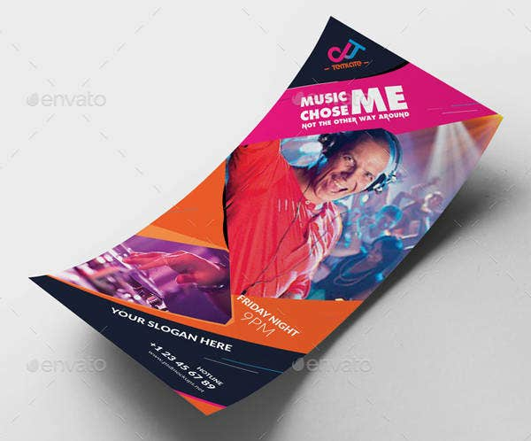 Music Club Business Rack Card Template