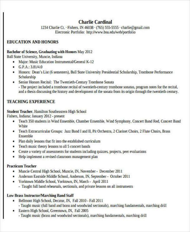 10+ Teacher Resume Templates In PDF Format