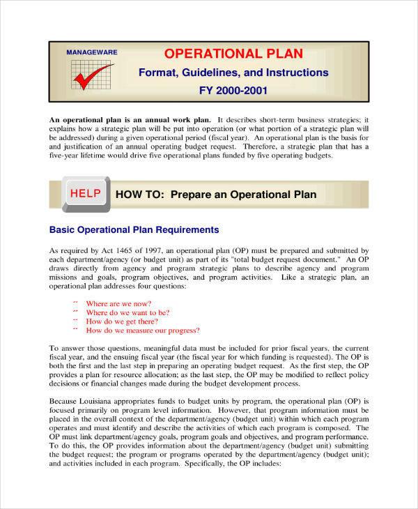 NATO Operational Plan Sample