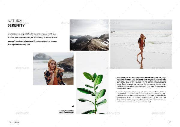Nature Minimal Magazine Template