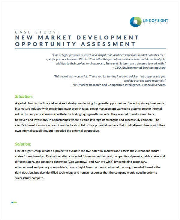 new market development opportunity assessment