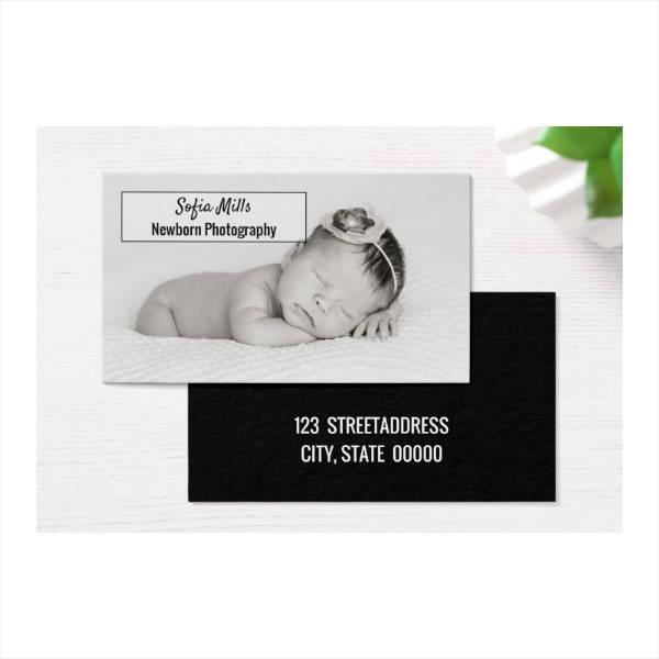 Newborn Photographer Business Card