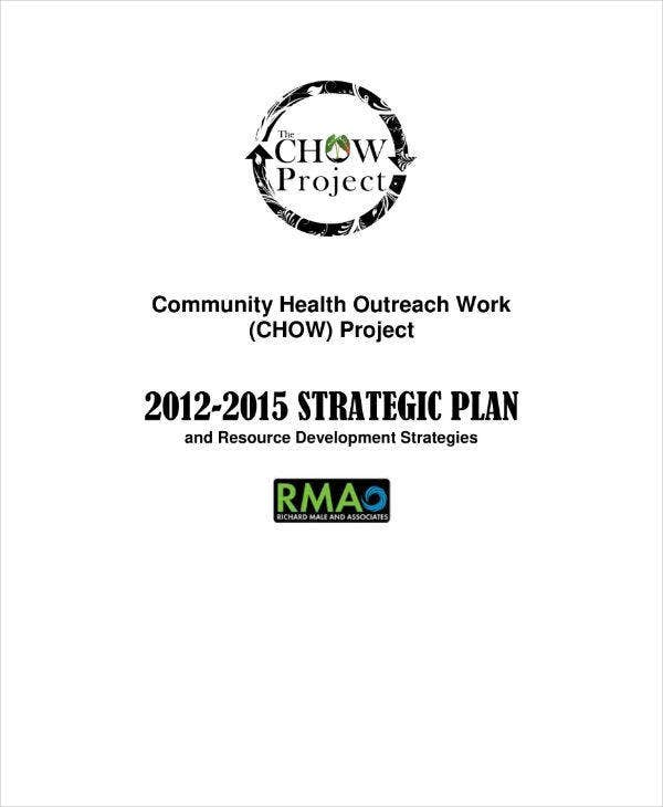Non-profit Project Strategic Plan Sample