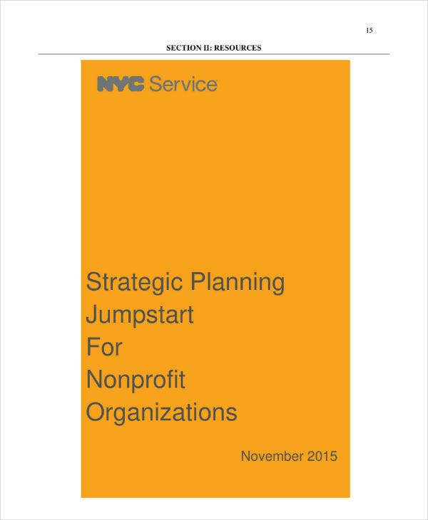 Nonprofit Organization Strategic Plan Template