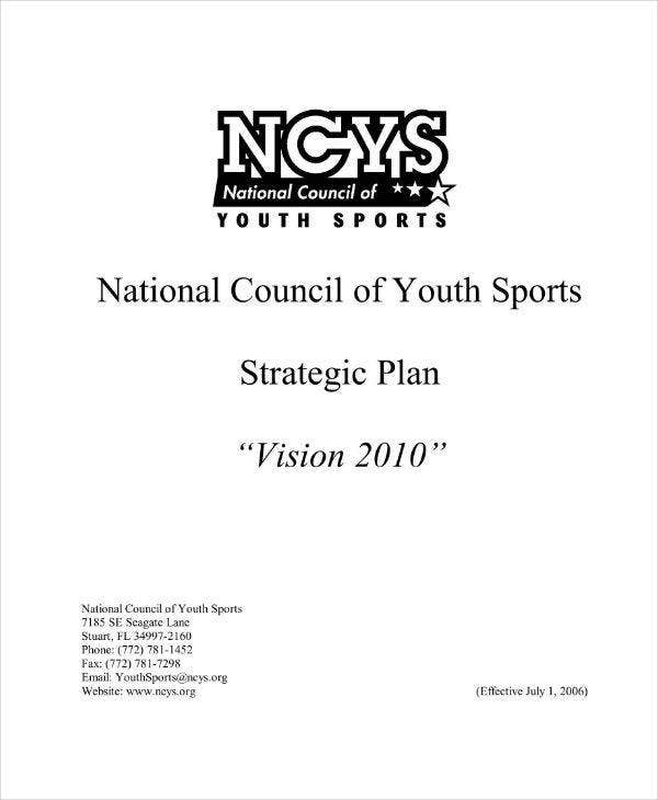 Nonprofit Sports Organization Strategic Plan