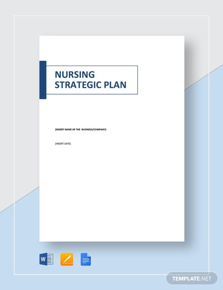 nursing strategic plan template