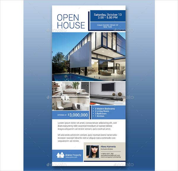 Open House Real Estate Rack Card