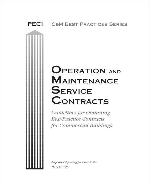 Operation & Maintenance Service Contract
