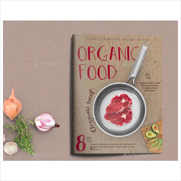 Organic Food Brochure Design
