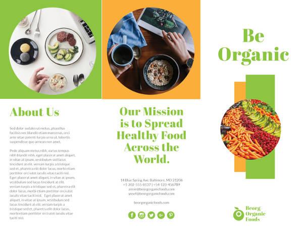 Organic Food Brochure Template