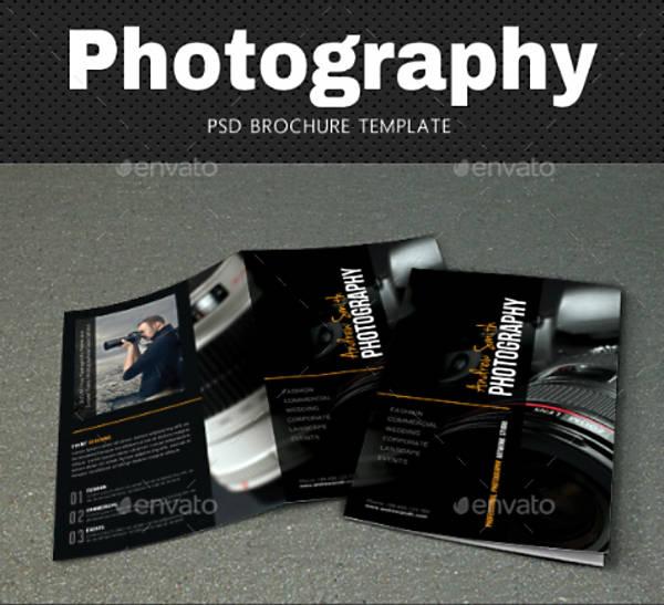 psd photography brochure template