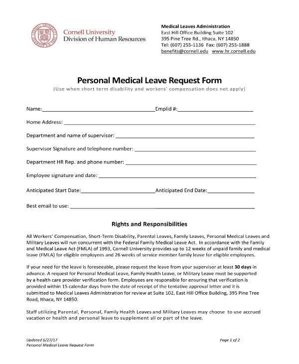 personal-medical-leave-request-form