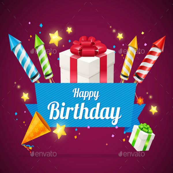 Personalized Birthday Gift Card Template