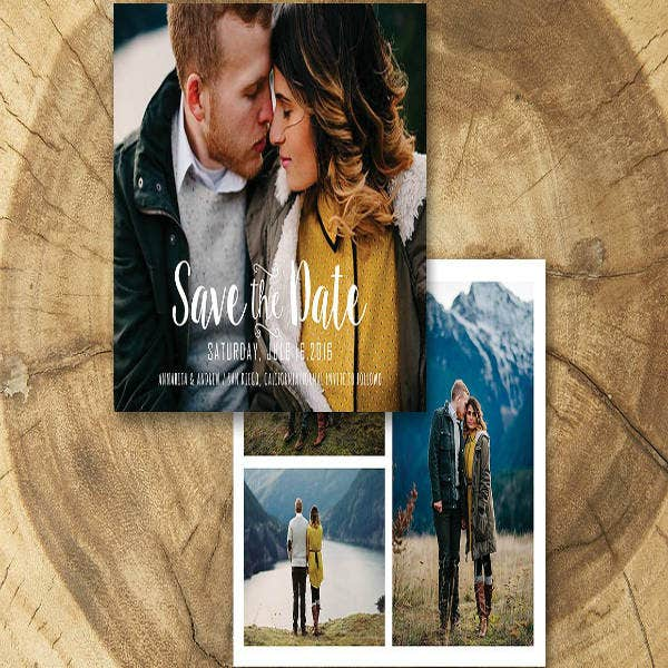 photograph save the date invitation template