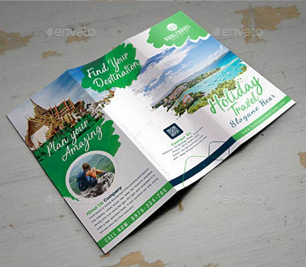 Photorealistic Travel Trifold Brochure Sample