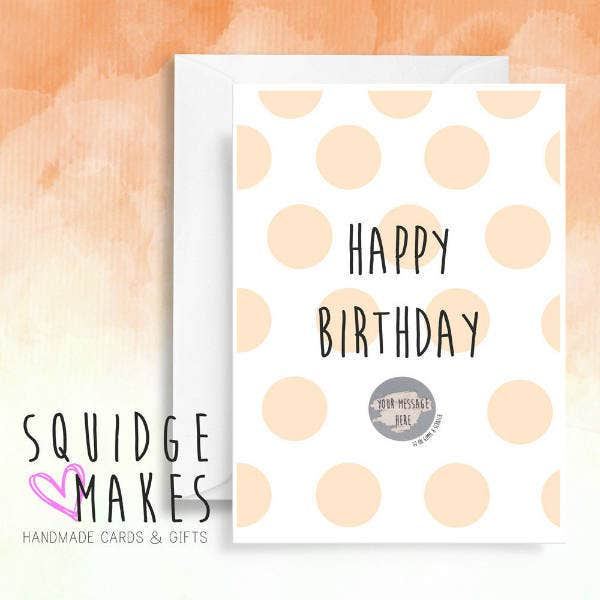 Polka Dots Surprise Birthday Card