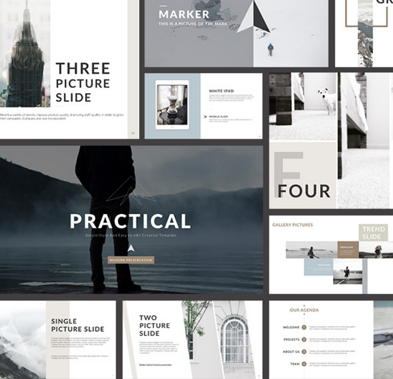 practical clean powerpoint template 788x761