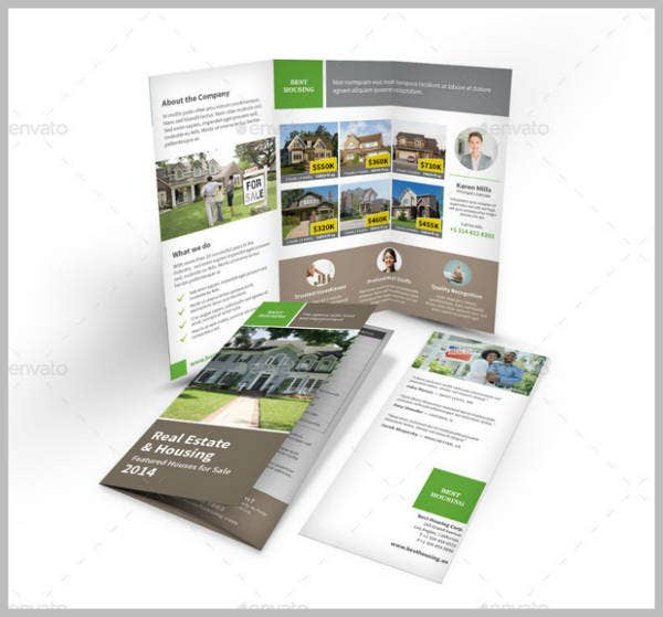 premium real estate trifold brochure