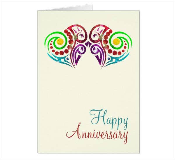image relating to Printable Anniversary Cards Free named 14+ Printable Anniversary Card Models Templates - PSD, AI