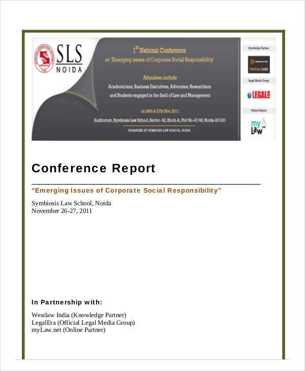 printable conference report