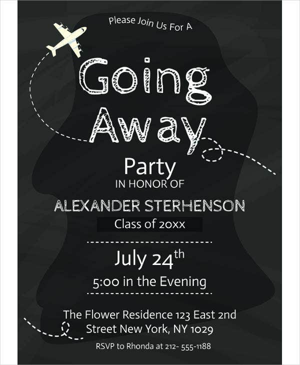 printable going away party invitation template