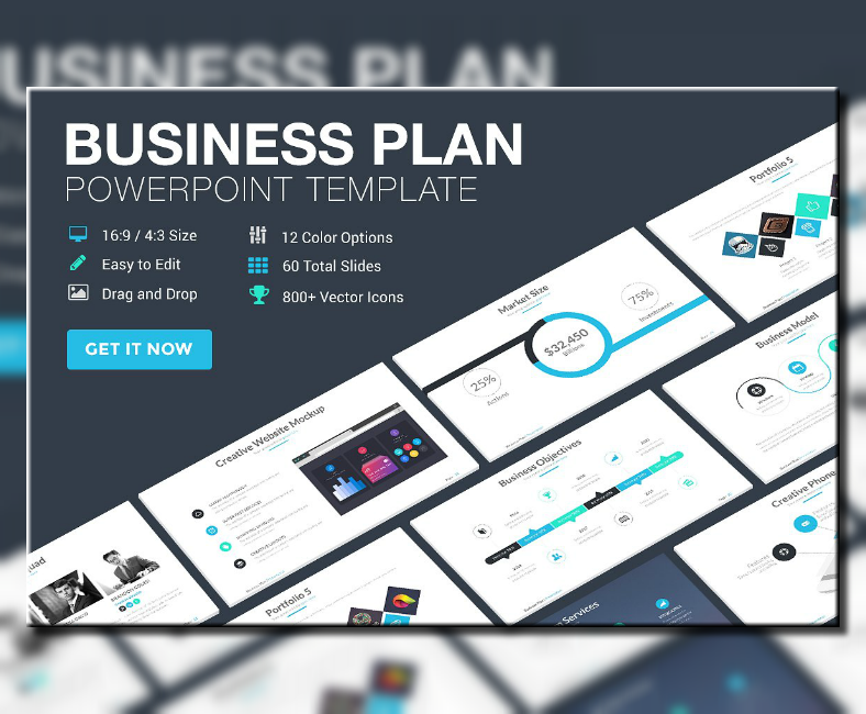 professional business plan powerpoint template 788x650