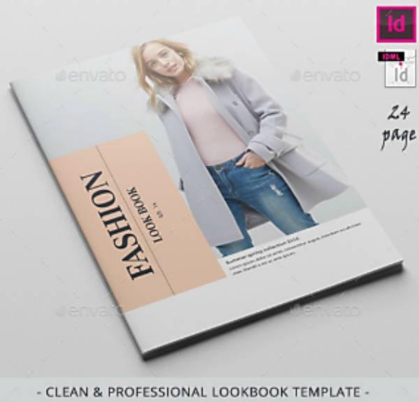 Professional Fashion Lookbook Example