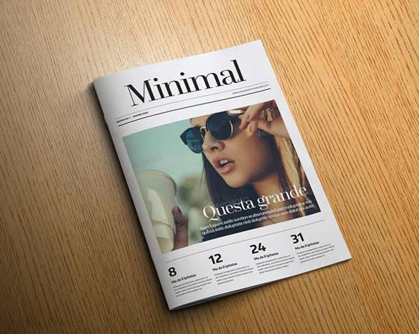 Professional Minimal Magazine Template