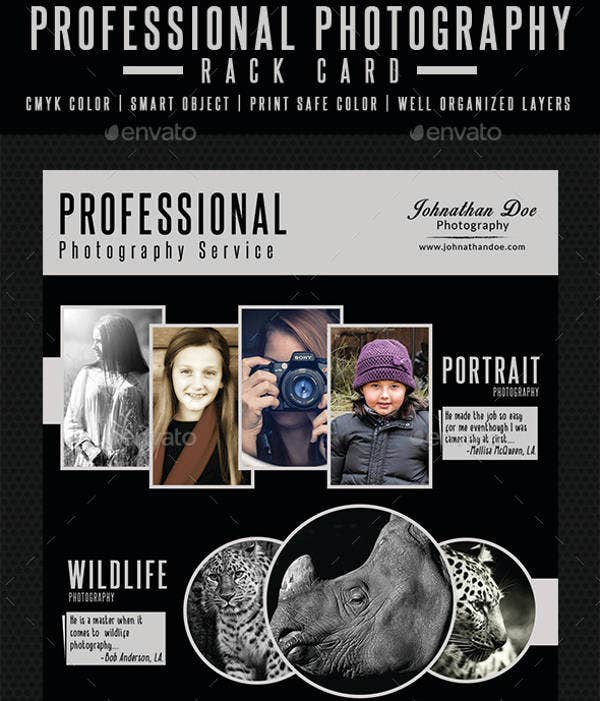 Professional Photography Rack Card