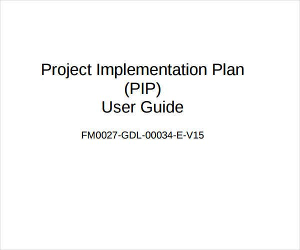 project implementation plan sample