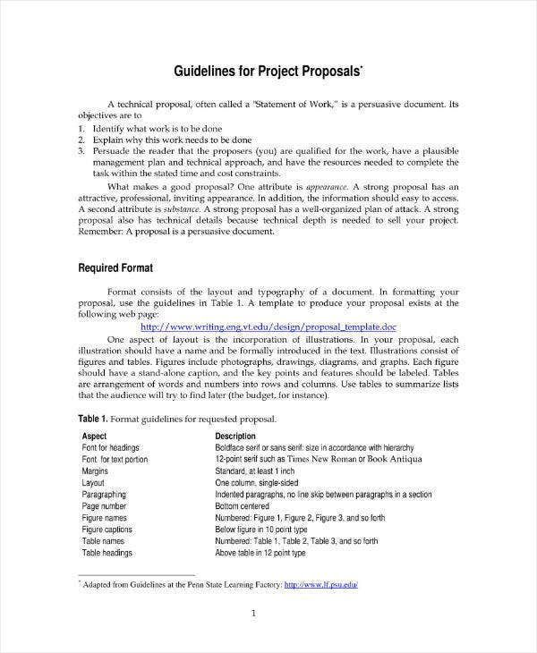 11  engineering project proposal templates
