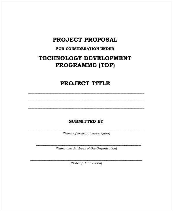 project proposal for development example