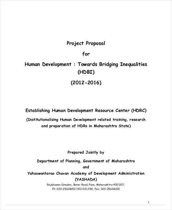 project proposal for human development1