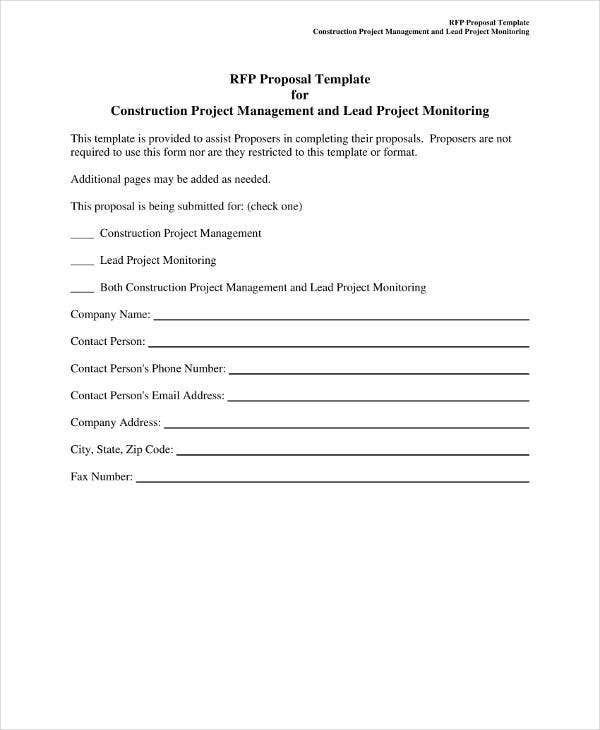 Proposal for Construction Project Management
