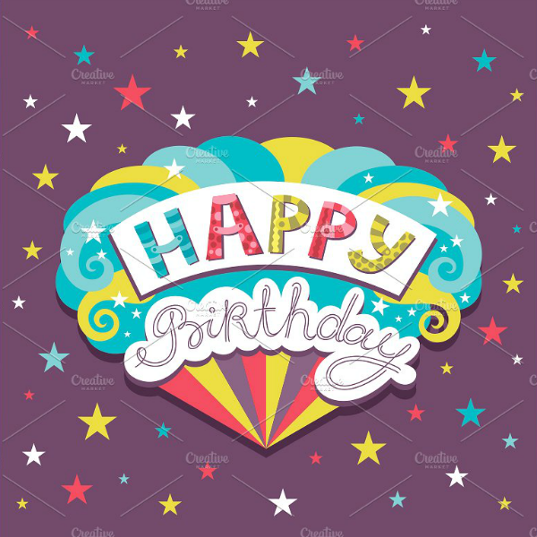 rainbow colors personalized birthday card template