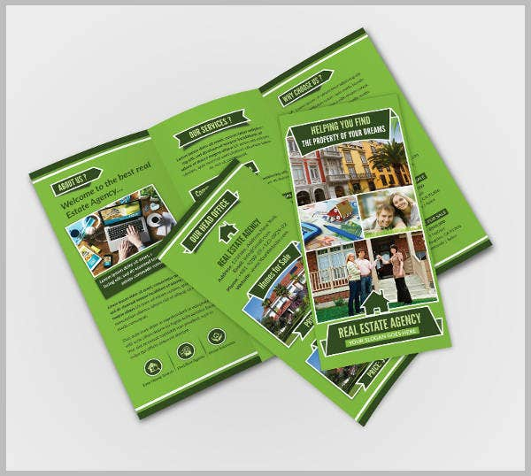 real estate agency trifold brochure template