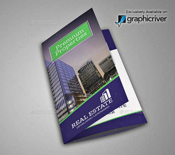 real estate properties trifold brochure