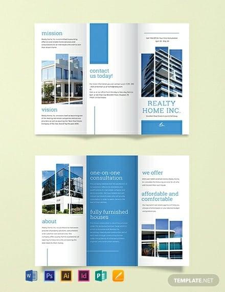realtor tri fold brochure template1