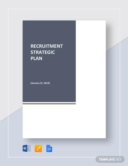 recruitment strategic plan template