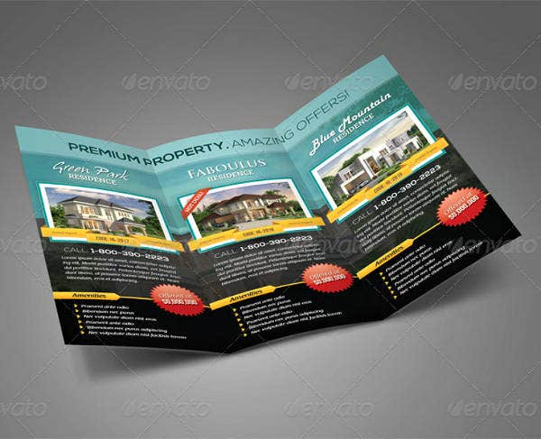 residences real estate trifold brochure