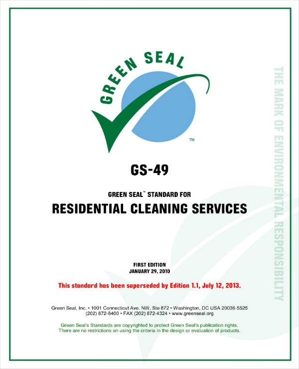 residential cleaning services operations plan 01