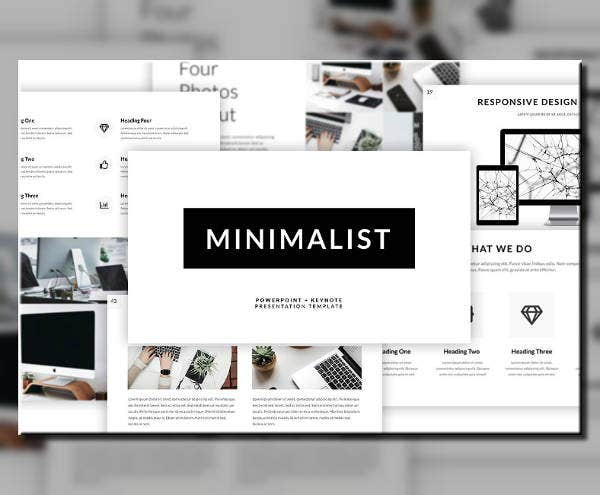 Responsive Minimal PowerPoint Template