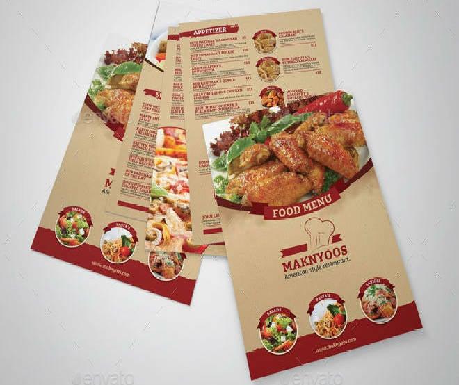 Restaurant Food Menu Sample